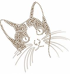 dots cat vector image vector image
