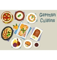 German cuisine Christmas dishes for dinner icon vector image vector image