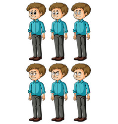 man with different facial expressions vector image
