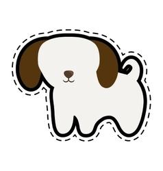 puppy domestic mammal cut line vector image vector image