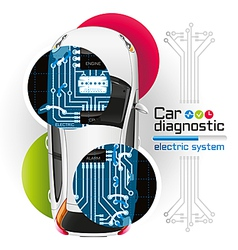 Car Diagnostic of Electric System2 vector image