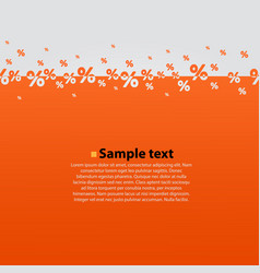 creative abstract orange percent background vector image vector image