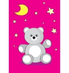good night bear vector image vector image