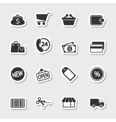 Market Icons Set as Labels vector image