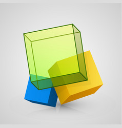 3d cube design vector image vector image