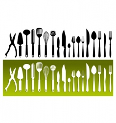 kitchenwares vector image vector image