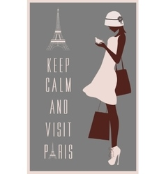 Paris travel card vector image