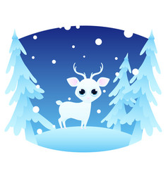winter landscape with a deer vector image