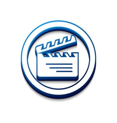 3d glossy clapper boards icon vector image