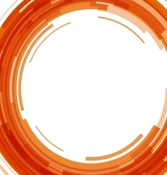 Abstract orange technology circles background vector