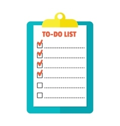 Agenda list icon vector
