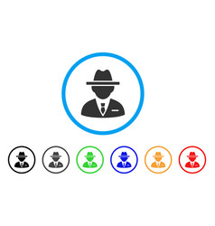 Agent rounded icon vector