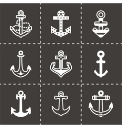 Anchor icon set vector image