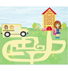 Back to school - maze vector