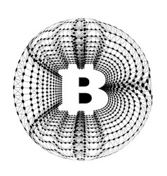 bitcoin - electronic form money and innovative vector image