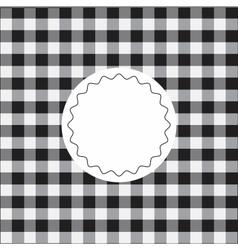 Black checkered background vector