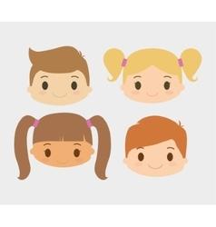Boy and girl kid cartoon design vector