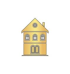 building computer symbol vector image