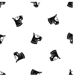bull terrier dog pattern seamless black vector image
