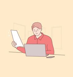 business work online freelance concept vector image