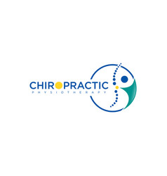 Chiropractic physiotherapy concept logo design vector