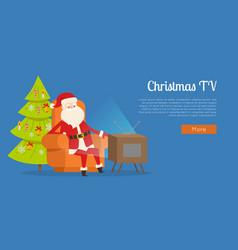 Christmas tv calm rest concept vector