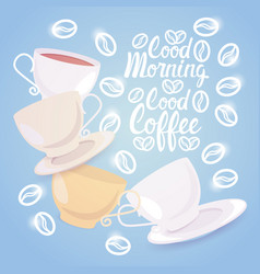 coffee cup break breakfast drink beverage morning vector image