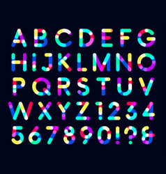 colorful overlays font only dark background a vector image