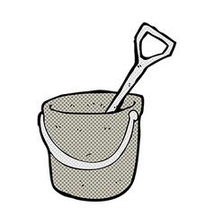 comic cartoon bucket and spade vector image
