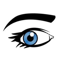 comic eye look optical style vector image