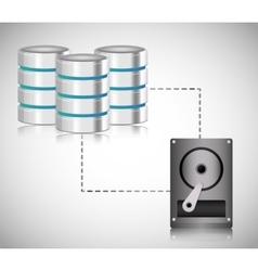 Data center web hosting graphic vector