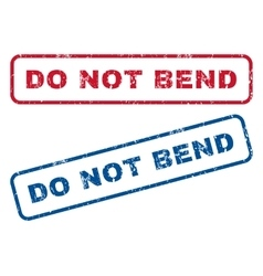 Do not bend rubber stamps vector