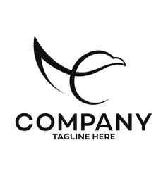eagle letter e logo vector image