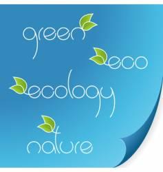 eco words vector image