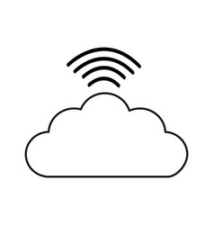 Figure digital cloud data wifi connect vector