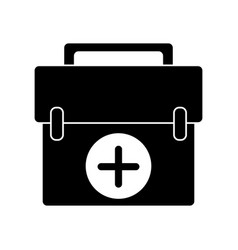 First aid kit emergency equipment pictogram vector