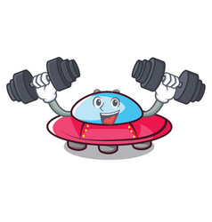 fitness ufo character cartoon style vector image