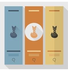 Fox Single Flat Autumn Icon vector