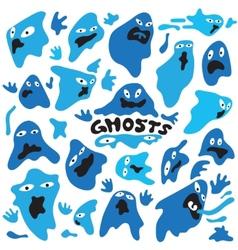 Ghosts cartoons vector