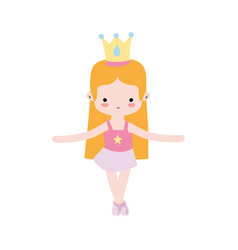 Girl practice ballet with profesional clothes and vector