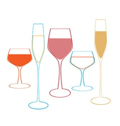 glass of alcohol vector image