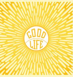 good life vector image