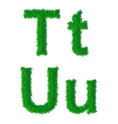 Green grass alphabet vector