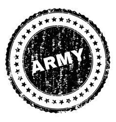 Grunge textured army stamp seal vector