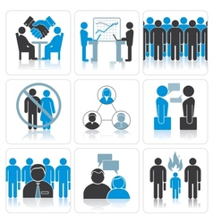 Human Resources and Management Icons Set vector