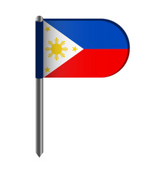 Isolated flag of philippines vector