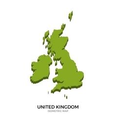 isometric map united kingdom detailed vector image