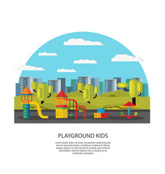 Kids amusement and entertainment concept vector