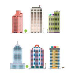 modern city building retro constructions gaming vector image