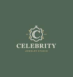 modern professional logo emblem celebrity vector image